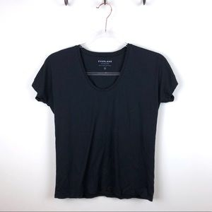 Everlane Black Basic Tee Shirt Supima Cotton XXS